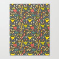 pasta Canvas Prints featuring Pasta by canigrin