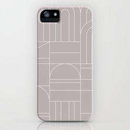 Deco Geometric 04 Grey iPhone Case