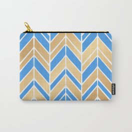 Intermittent Herringbone – Blue Gold Palette Carry-All Pouch