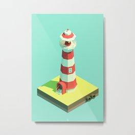Lighthouse Day Metal Print