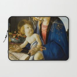Sandro Botticelli The Virgin and Child Painting Laptop Sleeve