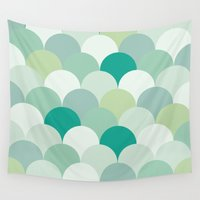 scales Wall Tapestries featuring SCALES by Sarah Stark