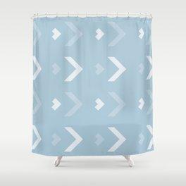 Chevron Blue Pattern Shower Curtain