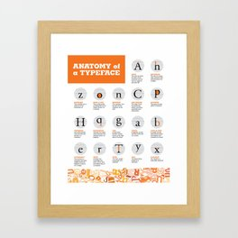 Anatomy of a Typeface Framed Art Print