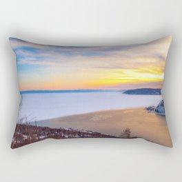 Lake Baikal and Angara River Rectangular Pillow