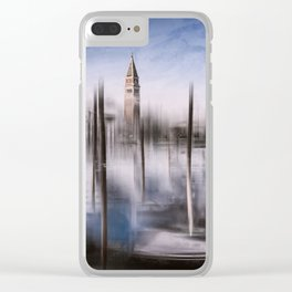 Digital-Art VENICE Grand Canal and St Mark's Campanile Clear iPhone Case
