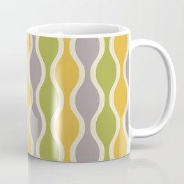 Classic Retro Ogee Pattern 847 Yellow Gray and Green Coffee Mug