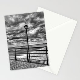 Cleethorpes Pier Lamp Monochrome Stationery Cards