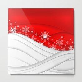 Abstract Christmas background Metal Print