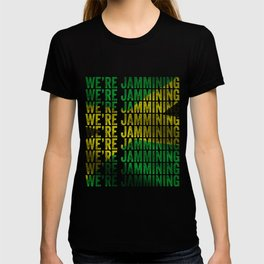 Jamming   Jamaican reggae  music lovers gift   Jamaica flag T-shirt