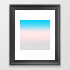 Gradient Turquoise Pink Grey Framed Art Print