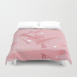Voyage in Pink Duvet Cover