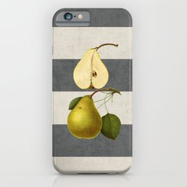 botanical stripes - pear iPhone Case
