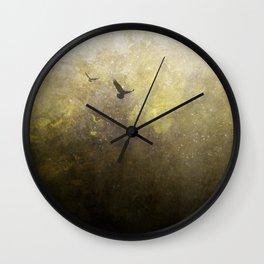 Golden Space Flight Wall Clock