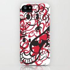 Happy doodle do! Red version Slim Case iPhone (5, 5s)