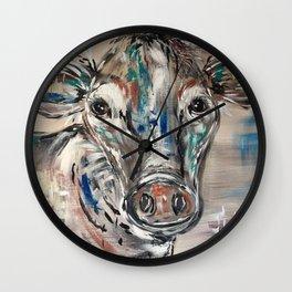 Rainbow Cow Wall Clock
