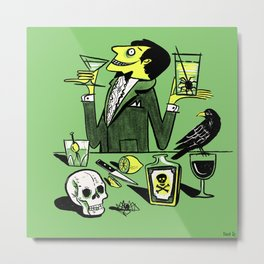 Drinks With The Mad Scientist Next Door Metal Print