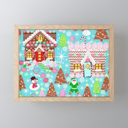 Gingerbread House Christmas Winter Candy, sweets.christmas gift, holiday gift for kids of all ages, Framed Mini Art Print