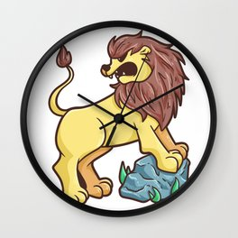 Lion Rock predator wildcat Gift Wall Clock