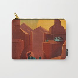 SpaceX Travel Poster: Valles Marineris, Mars Carry-All Pouch