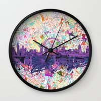london Wall Clocks featuring London by Bekim ART