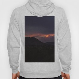 Vibrant Sunset over the Mountains in Terlingua, Big Bend - Landscape Photography Hoody