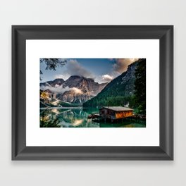 Italy mountains lake Framed Art Print