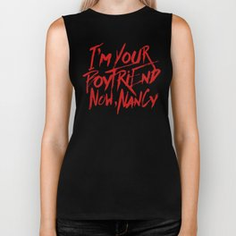 I'm Your Boyfriend Now Biker Tank
