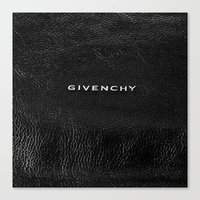 givenchy Canvas Prints featuring Givenchy Black  by Luxe Glam Decor