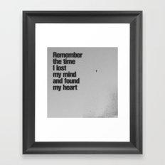 Remember The Time... Framed Art Print