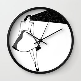 Listen to her space Wall Clock