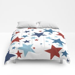 Stars - Red, White and Blue Comforters