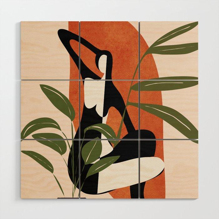 Abstract Female Figure 20 Wood Wall Art