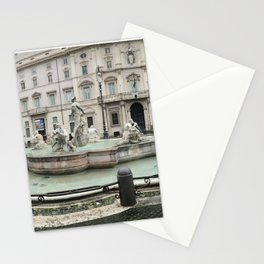 3 legged man in Piazza Navona Rome Italy Stationery Cards