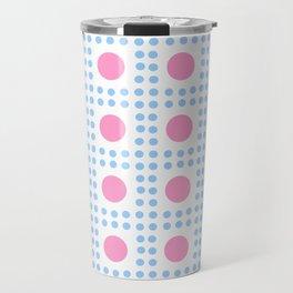 new polka dot 7 -pink and blue Travel Mug