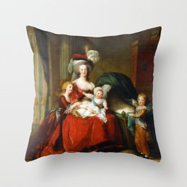 Marie-Antoinette and her Children (1787) Throw Pillow