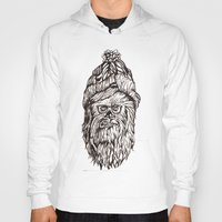 chewbacca Hoodies featuring Hipster Chewbacca  by LaurenNoakes
