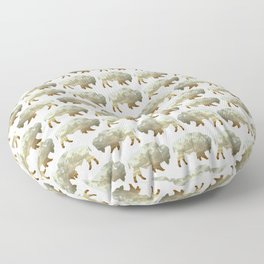 Bison and Plains Floor Pillow