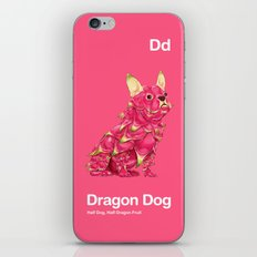 Dd - Dragon Dog // Half Dog, Half Dragon Fruit iPhone & iPod Skin