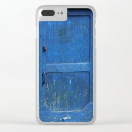 The Blue Door Clear iPhone Case