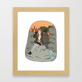 Les Batignolles. Framed Art Print