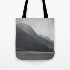 In the Shadows of Mountains Tote Bag