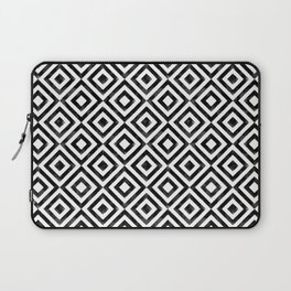 Black and white watercolor diamond pattern Laptop Sleeve
