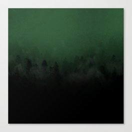 Colour in The Mist - British Racing Green Canvas Print