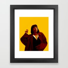 Mia Wallace - Yellow Framed Art Print