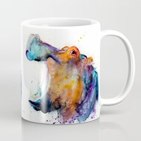 hippo Mugs featuring Hippo  by Slaveika Aladjova