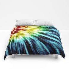 Abstract Dark Tie Dye Comforters