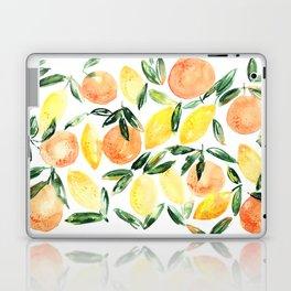 Sicilian orchard: lemons and oranges in watercolor, summer citrus Laptop & iPad Skin