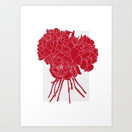 Floral Reds Art Print