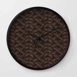 Brown Haka Cable Knit Wall Clock